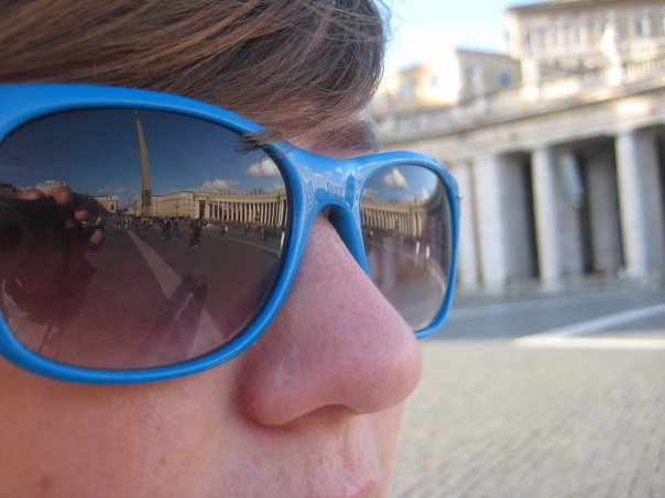 Blue Sunnies at the Vatican